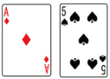 ブラックジャック_カードA&5