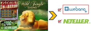 ワイルドジャングルカジノ入金